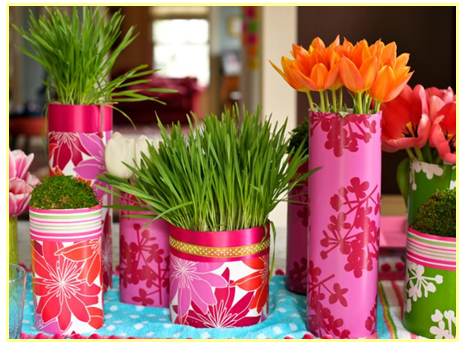 Decorating your old vases