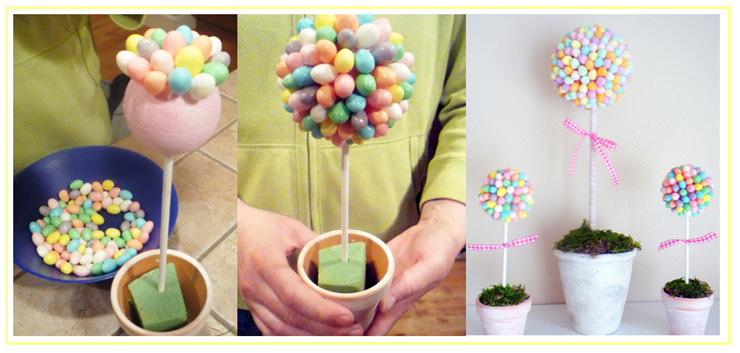 DIY Potted Jelly Bean Tree