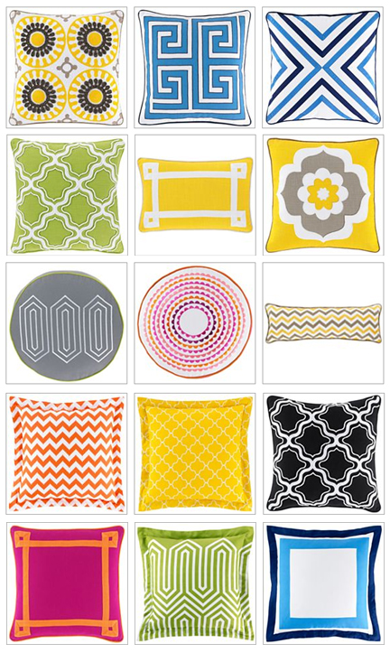 Jonathan Adler colorful, fabulous pillows