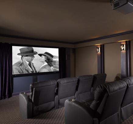Theater Room at Camden Crest Apartments in Raleigh, North Carolina